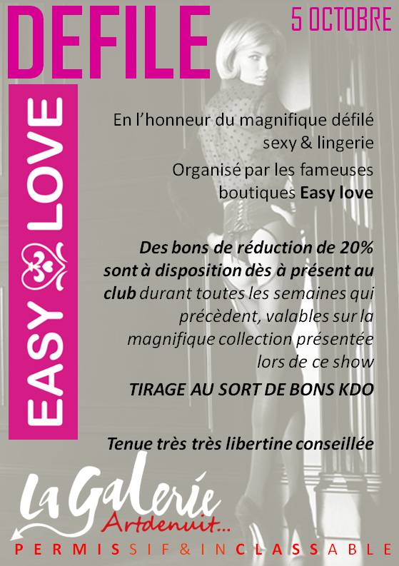 DEFILE EASY LOVE L'EVENT D'OCTOBRE